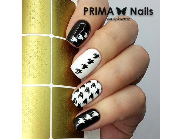 Трафарет Prima Nails Гусиная лапка