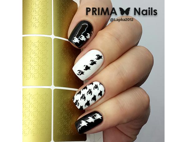 Трафарет Prima Nails Гусиная лапка
