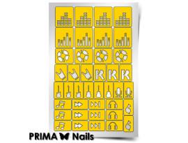 Трафарет Prima Nails Музыка