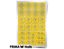 Трафарет Prima Nails Спирали Круг