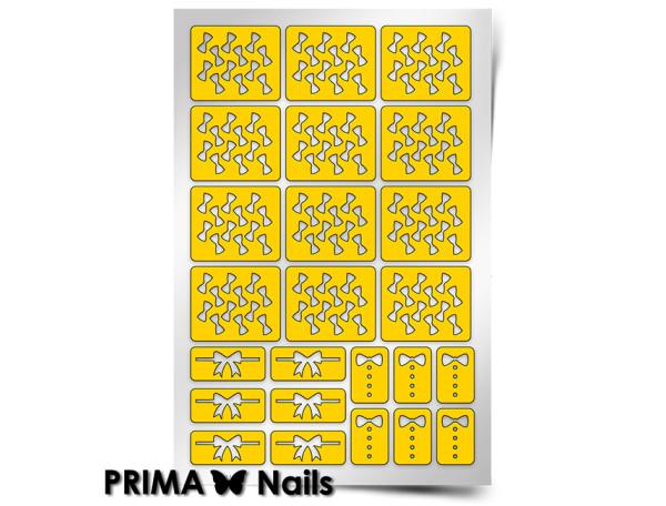 Трафарет Prima Nails Бантики
