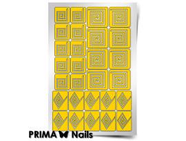 Трафарет Prima Nails Спирали Квадрат